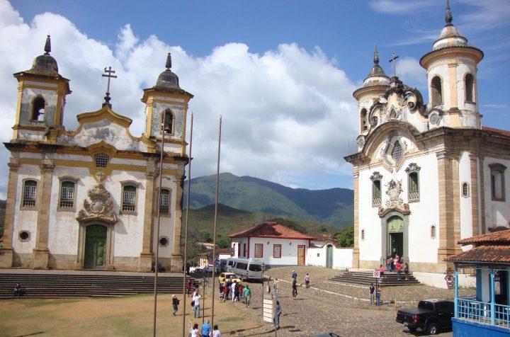 Igreja de Sao Francisco de Assis e Igreja Nossa Senhora do Carmo Praca Minas Gerais Mariana MG