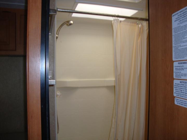 Interior do motorhome - banheiro