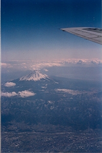 MONTE FUJI VISTO DO AVIAO