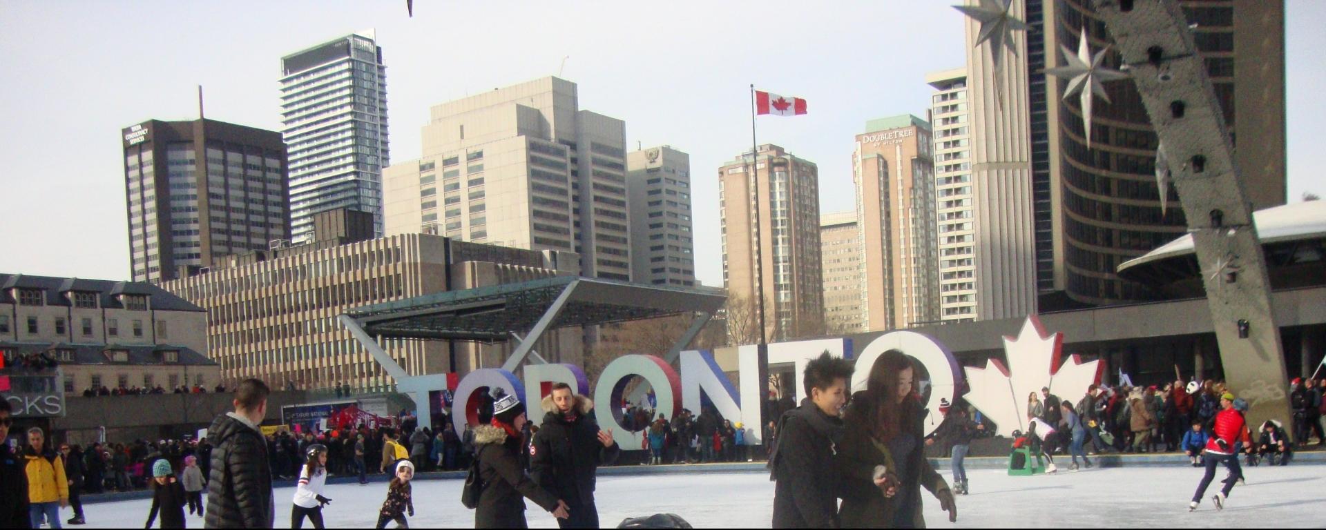 Pista de patinação - City Hall - Toronto - Canadá