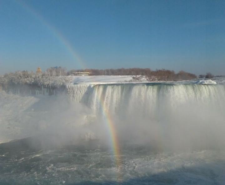 Arco Iris em Niagara Falls Canadá