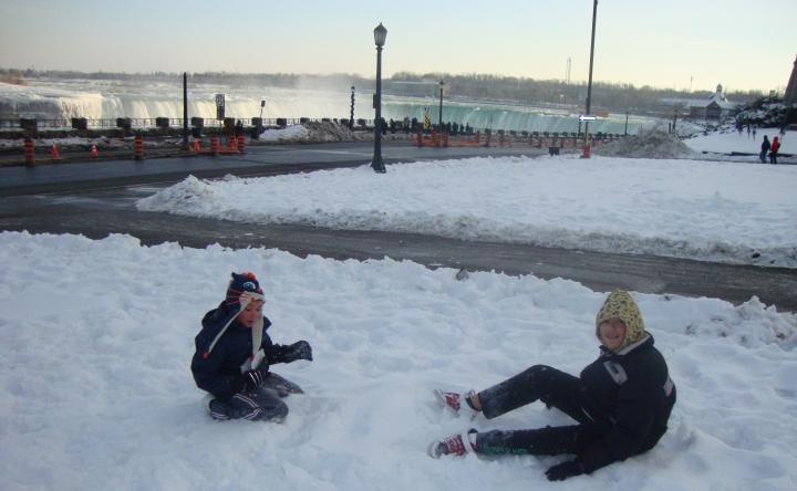 Neve em Niagara Falls - Canadá