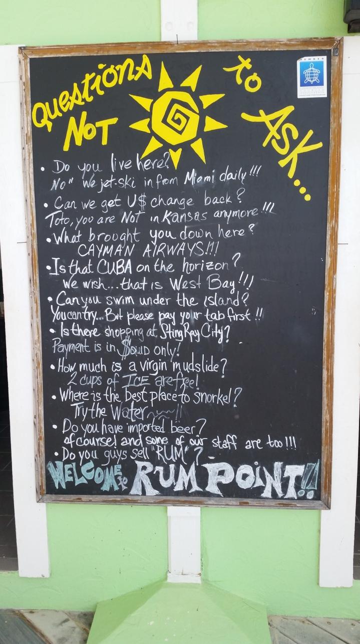 Placa em Rum Point - Grand Cayman