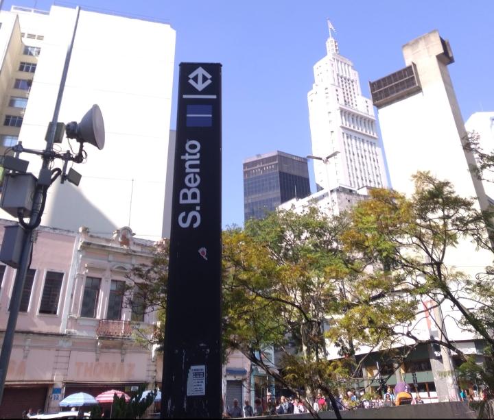 Estação São Bento do Metrô - Linha 1 - Azul