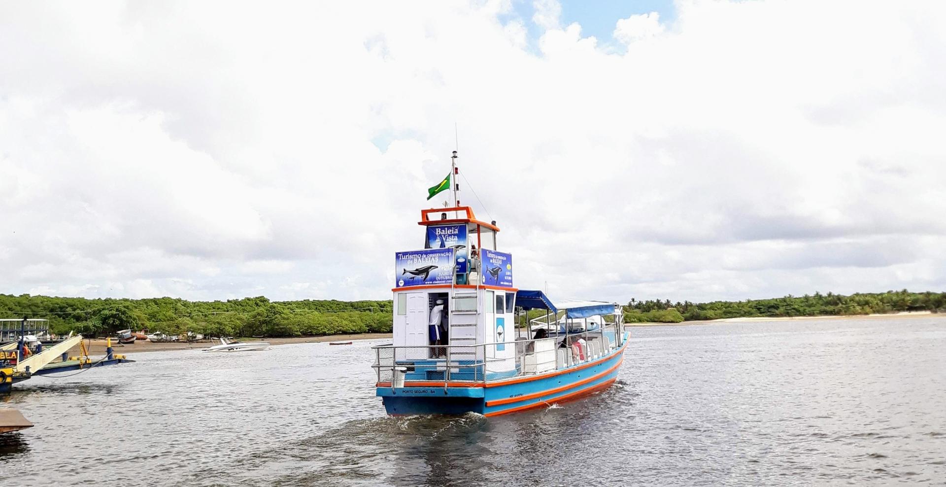 Passeio de barco - Baleia Jubarte em Arraial D'Ajuda