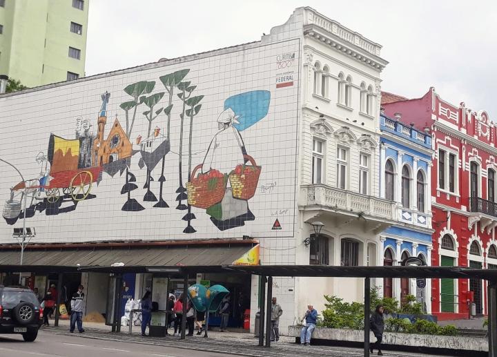 Painel de Poty Lazzarotto - Curitiba