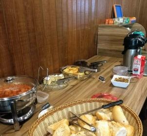 Café da manhã Hostel Roma Curitiba