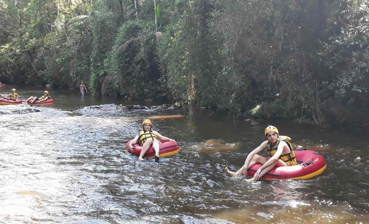 Boia-cross no Rio Taquaral em São Miguel Arcanjo SP