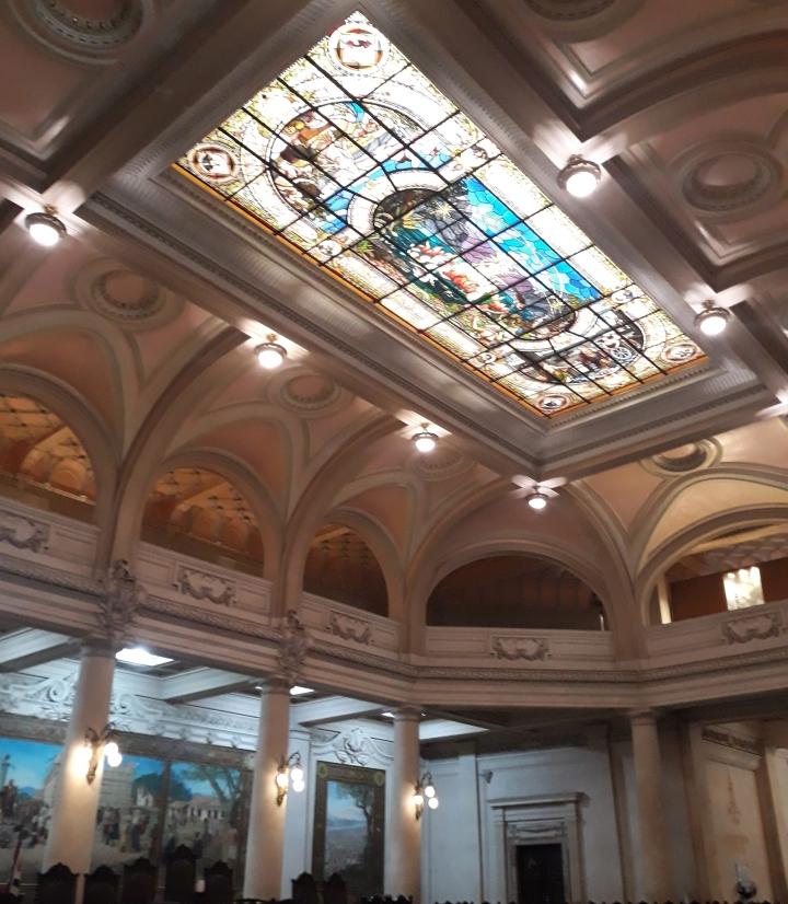 Vitral de Benedito Calixto no Museu do Café - Santos SP