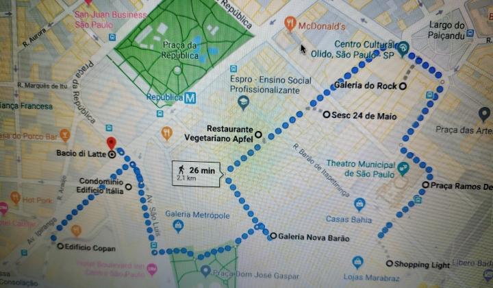 Roteiro a pé - Centro de São Paulo