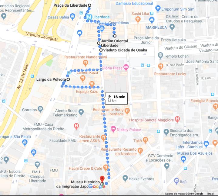 Roteiro a pé pela bairro da Liberdade, São Paulo