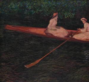 A canoa sobre o Epte - Monet